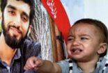 فرزند خردسال محسن حججی در منزل سپهبد شهید سلیمانی
